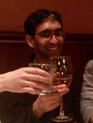 Srinivas celebrating his PhD