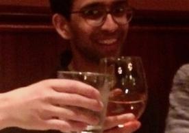 Srinivas celebrating his PhD